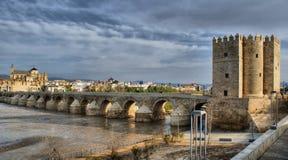 Römische Brücke von Cordoba Stockfotografie