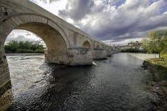 Römische Brücke von Cordova Lizenzfreie Stockfotos