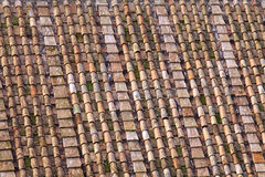 Römische Dachplatten Stockbild