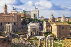 Römische Foren stockbilder