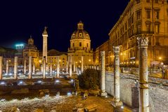 Römische Forumruinen in Rom Italien Lizenzfreie Stockfotos