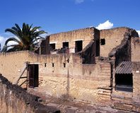 Römische Häuser, Herculaneum, Italien. Stockfotografie