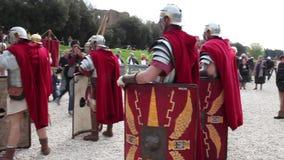 Römische Legionäre stock footage