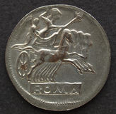 Römische Münze Stockfotografie