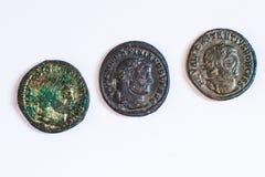 Römische Münzen Alte Münzen selten historisch Lizenzfreie Stockbilder