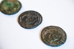 Römische Münzen Alte Münzen selten historisch Lizenzfreies Stockbild