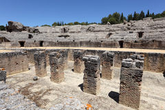 Römische Ruine Italica. Sevilla, Spanien stockbilder