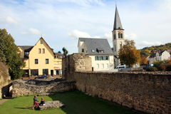 Römische Ruinen in Boppard Stockbild