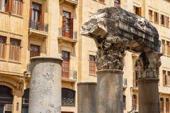 Römische Ruinen in der Mitte von Beirut Stockfoto