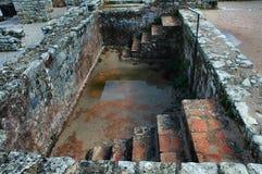 Römische Ruinen - Pool Lizenzfreies Stockfoto