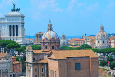 Römische Ruinen in Rom Stockfoto