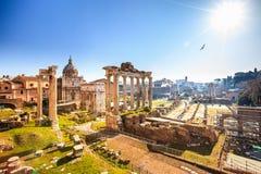 Römische Ruinen in Rom, Forum lizenzfreies stockfoto