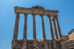 Römische Ruinen in Rom in Italien Stockfoto