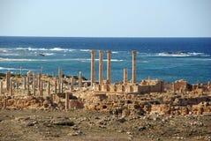 Römische Ruinen in Sabratha, Libyen Stockfotografie