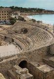 Römische Ruinen Taragona-Amphitheatre in Spanien stockbilder