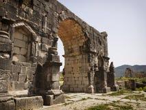 Römische Ruinen von Volubilis. Stockbilder