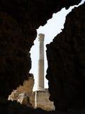 Römische Spalte in der Ruine Lizenzfreies Stockbild