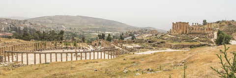 Römische Stadt Jerash in Jordanien Stockfotos