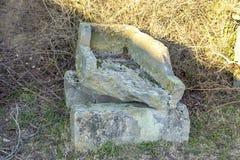 Römische Stein- Särge, Sarkophag, fanden in der Süd-Pfalz Lizenzfreie Stockbilder