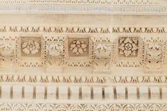 Römische Tempel-Details in Nimes, Provence, Frankreich Lizenzfreies Stockbild