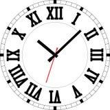 Römische Uhrskala Lizenzfreie Stockfotografie