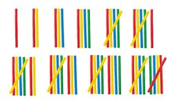 Römische Zahlen eingestellt gemacht vom mathematischen hölzernen Stock Lizenzfreie Stockfotografie