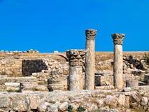 Römische Zitadelle in Amman, Jordanien Stockfotos