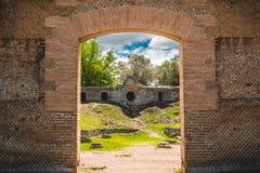 Römische Zivilisationskatakomben der Archäologieruinen in Rom Tivoli - Lazio - Italien stockfotografie
