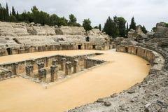 Römischer Amphitheatre bei Italica, Andalusien, Spanien stockfoto