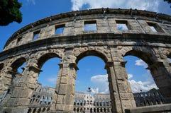 Römischer Amphitheatre in den Pula, Kroatien Lizenzfreies Stockbild