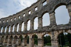 Römischer Amphitheatre in den Pula, Kroatien Lizenzfreies Stockfoto