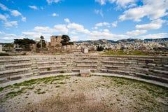 Römischer Amphitheatre an der Byblos Festung. Stockfotos