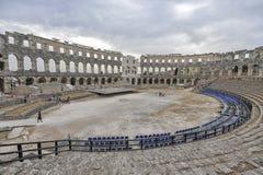 Römischer Amphitheatre die Arena, Pula, Kroatien Stockfoto