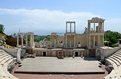 Römischer Amphitheatre in Plowdiw stockbilder