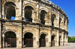 Römischer Amphitheatre von Nimes, Frankreich Stockfotos