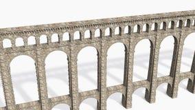Römischer Aquädukt auf Weiß Stockbilder