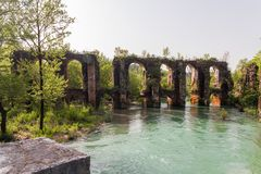 Römischer Aquädukt im Dorf von Agios Georgios Preveza Greece Stockfoto