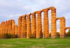 Römischer Aquädukt Mérida Stockfotografie