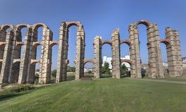 Römischer Aquädukt in Mérida Lizenzfreie Stockbilder