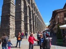 Römischer Aquädukt in Segovia, Spanien Lizenzfreie Stockbilder
