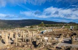Römischer archäologischer Standortbereich Baelo Claudia Lizenzfreies Stockbild