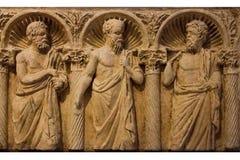 Römischer Sarkophag bari Apulien oder Puglia Italien lizenzfreie stockfotografie