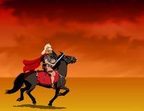 Römischer Soldat auf zu Pferde lizenzfreie abbildung