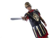 Römischer Soldat mit Klinge Stockbild