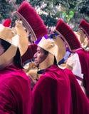 Römischer Soldat in Sonntag Lent Procession stockfoto