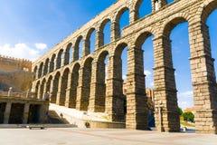 Römisches acqueduct in Segovia nahe Madrid, Spanien Stockfotografie