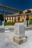 Römisches acqueduct in Segovia nahe Madrid, Spanien Stockfoto