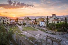 Römisches Agora in Athen lizenzfreie stockfotos
