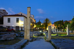Römisches Agora, Athen Stockfotos