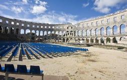 Römisches Amphitheater stockfoto